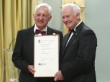 Fraser Taylor accepting the Killam Prize from Governor General David Johnston