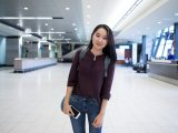 Carleton International student Seoyeon Kim is greeted at the Ottawa International Airport in Sept. 2016