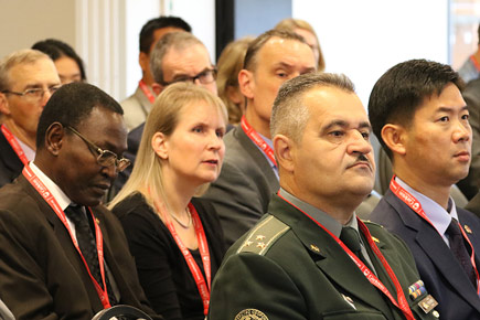 The audience of new diplomats listens during the 6th Annual Orientation for Newly Arrived Diplomats