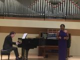 """Deanna Ponnuthurai and Prof. Wright perform """"Vocalise,"""" at the Central Conservatory of Music in Beijing"""
