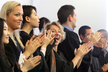Students celebrate during Convocation