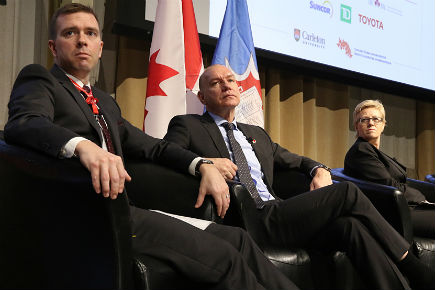 Experts on a panel during the Disaster Proofing Canada event.