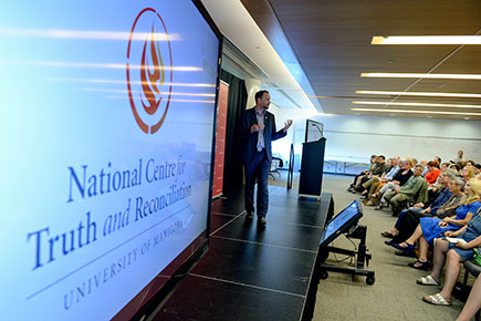 Ry Moran speaks at the 2017 Graham Lecture