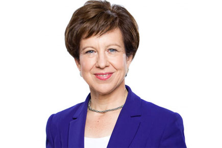A headshot of Lyse Doucet.
