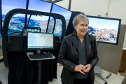 Roberta Bondar Speaks to Students, Tours Aerospace Facilities