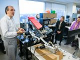 Prof. Mojtaba Ahmadi gives a tour of the Advanced Biomechatronics & Locomotion Lab