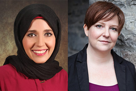 Rawan Alkurd and Joanne Farrall, the winners of the 2016 Vanier Award