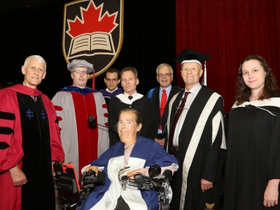 Photo for the news post: Catherine Frazee Receives Honorary Doctorate from Carleton University