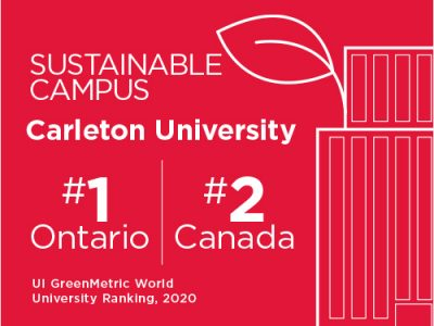 Photo for the news post: Carleton First in Ontario and Second in Canada for Sustainability Efforts