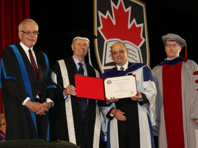 Photo for the news post: Steven Davis Receives Honorary Doctorate from Carleton University