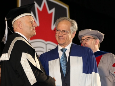 Photo for the news post: Gilles Patry Receives Honorary Doctorate from Carleton University