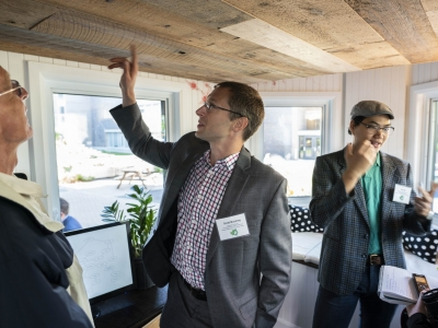 Photo for the news post: Carleton University Hosts `Tiny' Open House for Net-Zero Energy Project