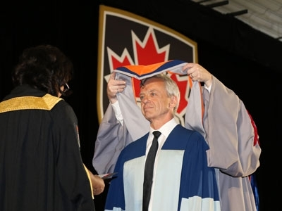 Photo for the news post: Astronaut Robert Thirsk Receives Honorary Degree from Carleton University