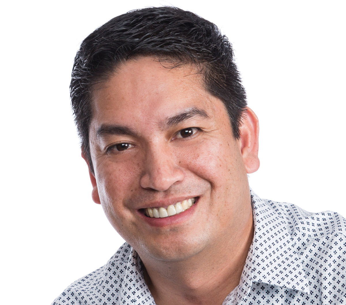 A headshot of Eddie Villarta against a plain white background.
