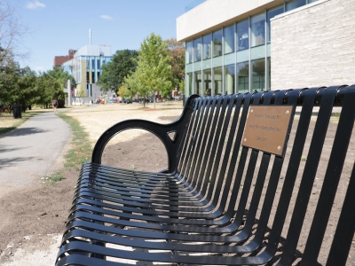 Photo for the news post: The Late David Farr, Admired Carleton Professor, Honoured with Bench Installation