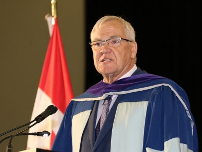 Photo for the news post: Laurie Beachell Receives Honorary Degree from Carleton University