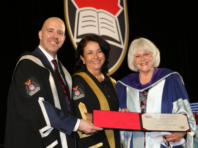 Photo for the news post: Cristina Louise Logue Receives Honorary Doctorate from Carleton University