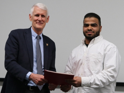 Photo for the news post: Spring Convocation: Computer Systems Engineering Student's Software Goes Global