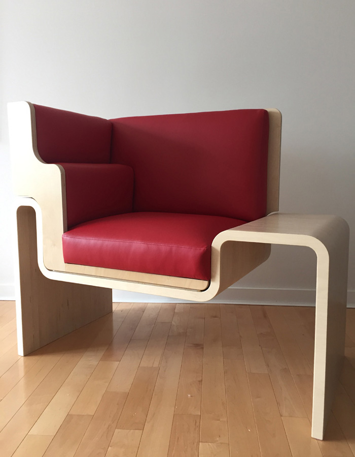 A model of an accessible chair.