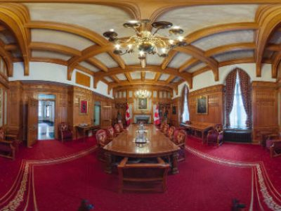 Photo for the news post: Carleton Immersive Media Studio Helps Public Access Hidden Corners of Centre Block with Expanded Senate Virtual Tour