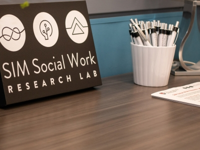 Photo for the news post: Leading-Edge Social Work Research Laboratory Opens