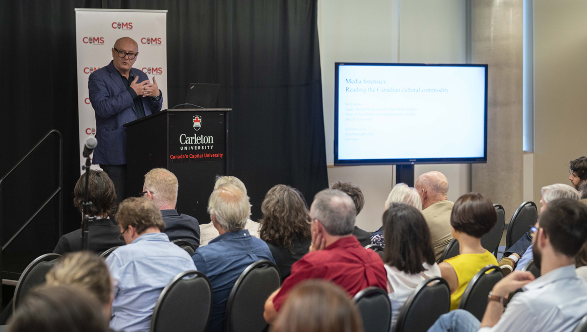 McGill Prof. Will Straw gave the 10th annual Attallah Lecture that kicked off the 40th anniversary of Communication and Media Studies program in Sept. 2018.