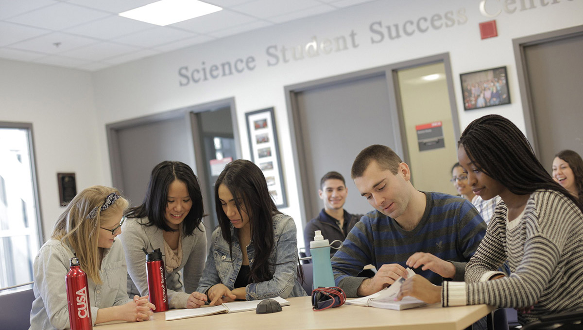Students working in the Science Student Success Centre