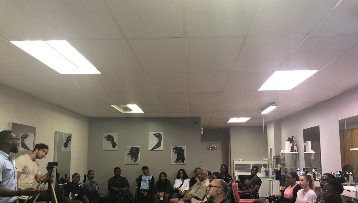 A photo from the Barbershop Talks in Montréal. (Author provided)