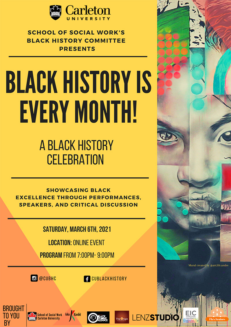 Carleton School of Social Work Hosts Black History is Every Month Event