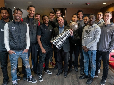 Photo for the news post: Carleton Campus Celebrates Men's Basketball Ravens