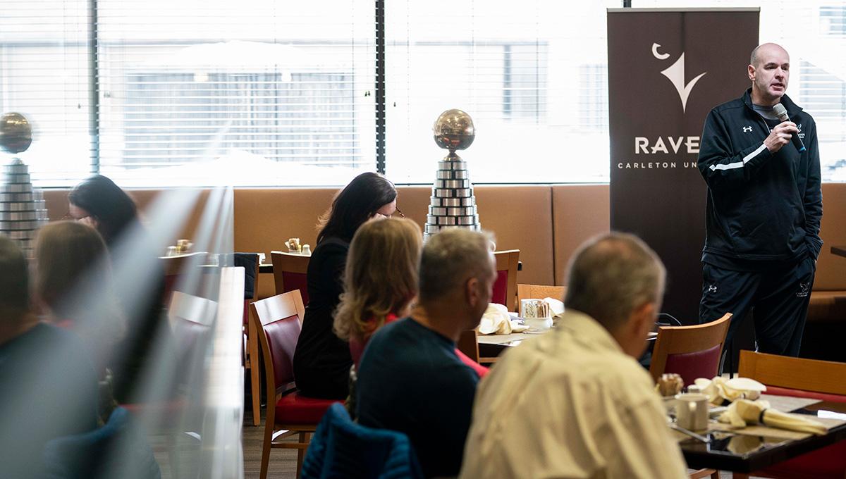 Carleton Campus Celebrates Mens Basketball Ravens