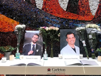 Photo for the news post: Carleton Remembers Those Lost in Tehran Plane Tragedy