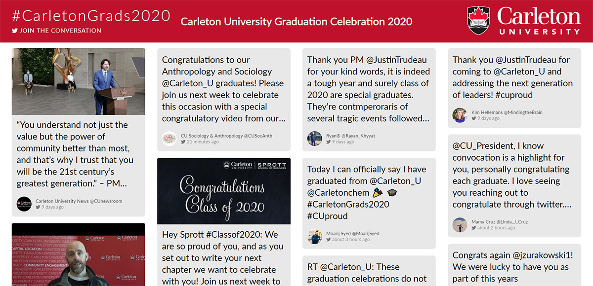Carleton Applauds Graduates in Virtual Celebrations and City Billboards