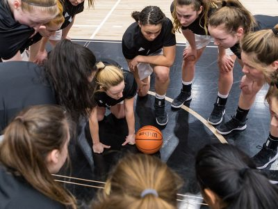 Photo thumbnail for the story: Carleton Women Surge on the Court
