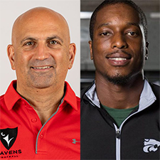 Head Coach Steve Sumarah and Receivers Coach Youssy Pierre