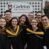 Photo of CBC speaks to Carleton students and parents during convocation.