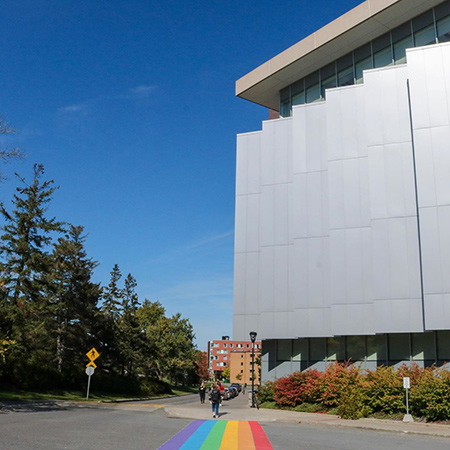A photo of the Canal Building on the Carleton University campus.