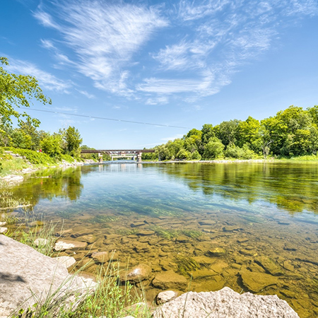 A view of the Rideau River.