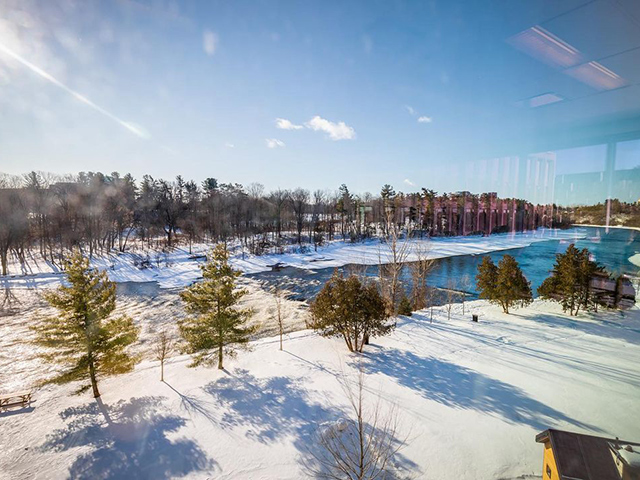 A view of the river from the Carleton University campus