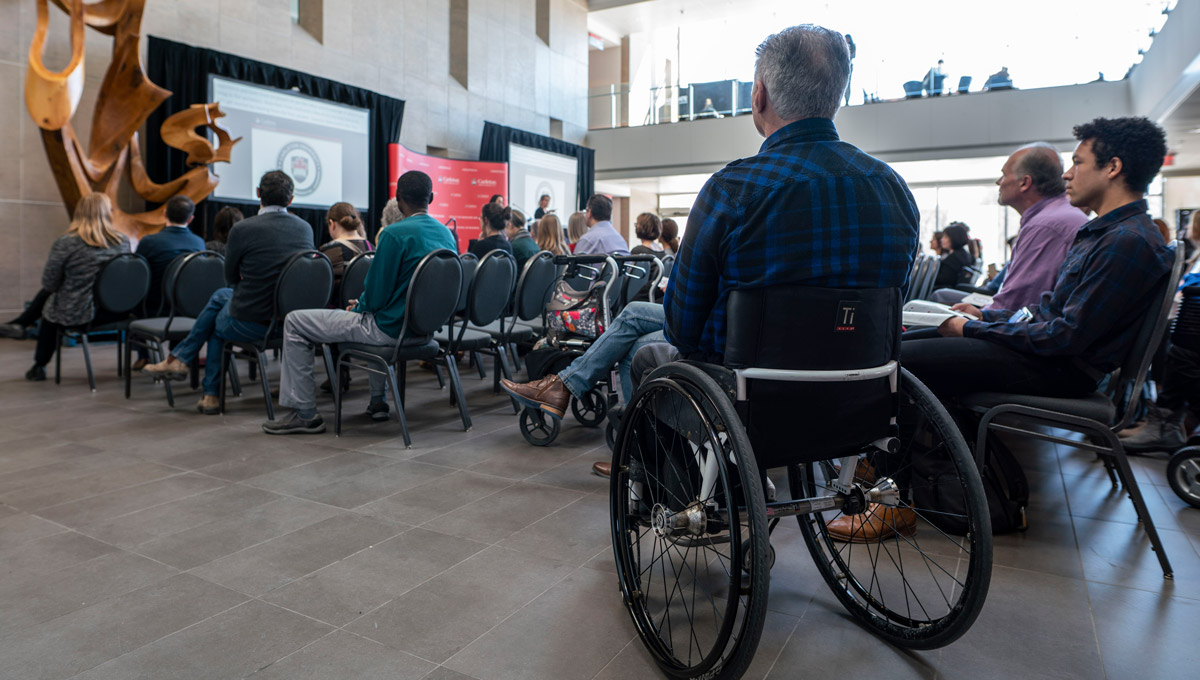 The audience during the Carleton University Accessible Experiential Learning Showcase.
