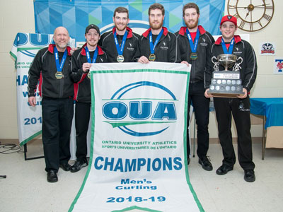 Photo for the news post: Ravens Take First Ever Curling Gold at OUA Championships