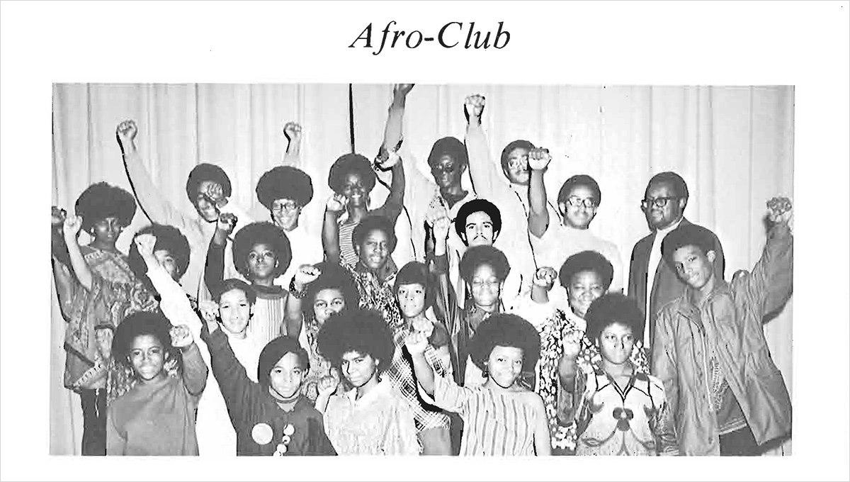 Afro-Club, Detroit Central High School Yearbook, 1970.