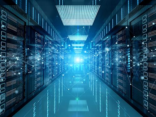 A network server room