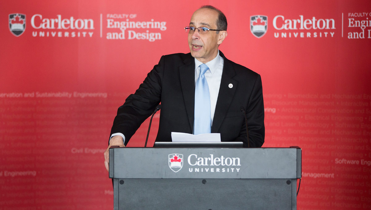 Rafik Goubran, dean of Carleton's Faculty of Engineering and Design