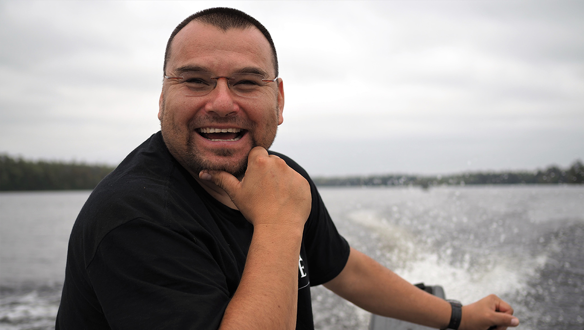 Mike Diabo, pictured on the water near Kitigan Zibi