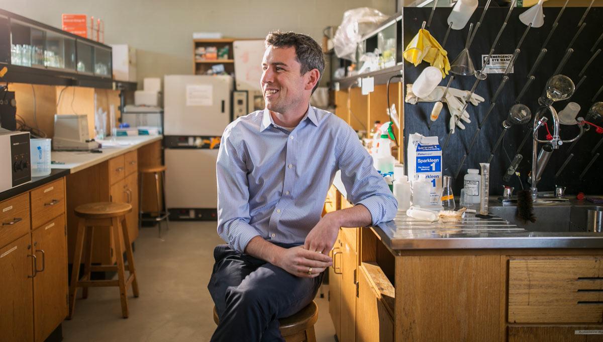 Carleton biology professor Kyle Biggar
