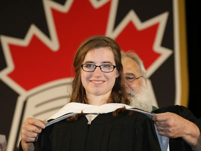 Photo for the news post: Spring Convocation 2018: Patience Pays Off for Carleton Graduate