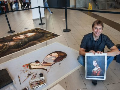 Photo for the news post: Reproducing Leonardo: Portrait of Lucrezia Crivelli Takes Shape