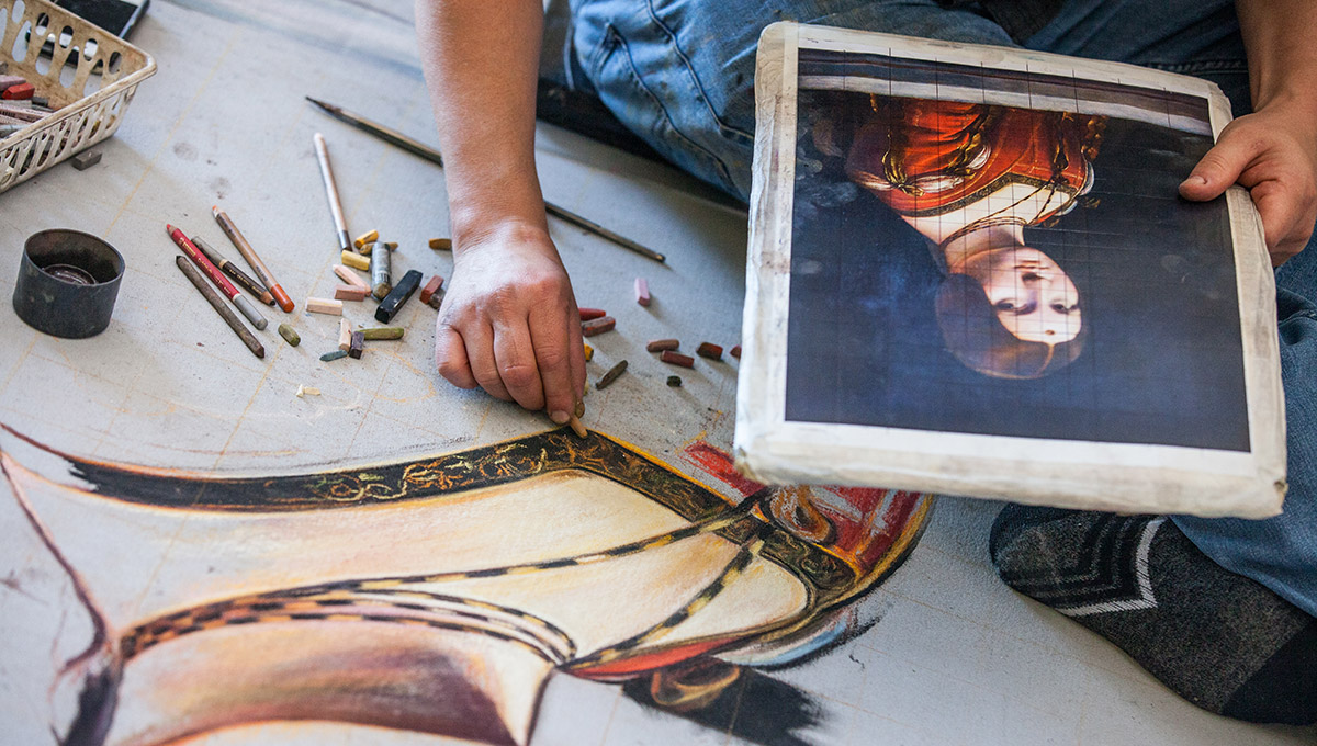 Reproducing Leonardo: Portrait of Lucrezia Crivelli Takes Shape