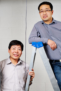 Water security: Junjie Gu and Jie (Peter) Liu of the Department of Mechanical and Aerospace Engineering